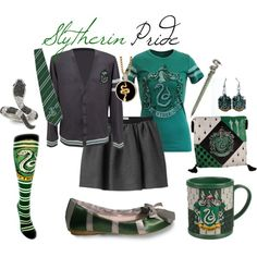 Slytherin Pride, created by nearlysamantha on Polyvore