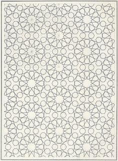 Pattern in Islamic Art - BOU 074 Islamic Motifs, Islamic Patterns, Geometric Patterns, Geometric Art, Islamic Art, Color Patterns, Print Patterns, Mandala Motif, Art Arabe