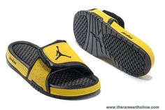 Nike Jordan Hydro 2 Slide Sandal Yellow Black Sale