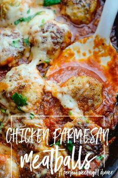 Chicken Parmesan Meatballs | shutterbean | Bloglovin'