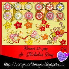 Digital Scrapbooking Freebies, St Nicholas Day, Kit, Flowers, Cards, Design, Florals, Map, Playing Cards