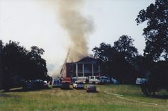 Arlington plantation Natchez Ms. fire photos