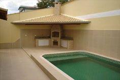 Resultado de imagem para churrasqueira com piscina Outdoor Decor, House Design, Pool Designs, Hot Tub Garden, Outdoor Diy Projects, Mini House, Outdoor Projects, Outdoor Design, Outdoor Kitchen