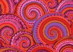 Philip Jacobs Fabric, Curly Baskets Red (per 1/4 metre)