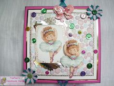 TeePees Handmade Cards!: December 2012. Card made with Sugar Buttons cute paper craft collection.