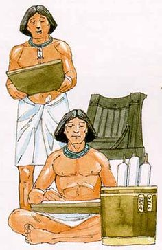 Official Egyptian trade was usually handled by scribes as representatives of the king. It was also handled by priests if a temple was involved.