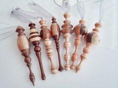 Handmade Wood Turned Christmas Ornaments Custom by jasonprigmore