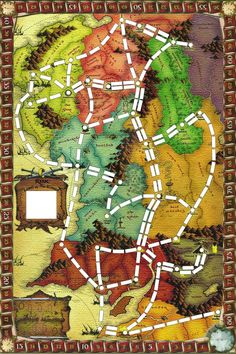 Ticket to Ride - Middle Earth Because how else are we going to get to Mordor?