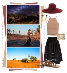 """Outback"" by skychern ❤ liked on Polyvore featuring NLY Trend, Alice + Olivia, Roxy, Lanvin, Sarah Magid, Inverni, women's clothing, women, female and woman"