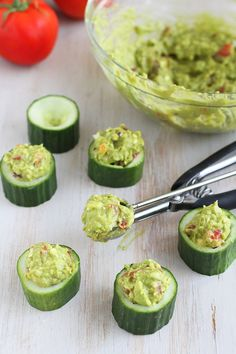 Greek Avocado + Feta Cucumber Cups
