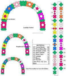 Arco de globos con bases - FIESTAIDEAS.com