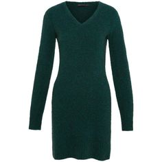 Marc by Marc Jacobs Super Yak Exaggerated Long Sleeve Sweater Dress ($428) ❤ liked on Polyvore featuring dresses, long sleeve dresses, ribbed dress, green body con dress, bodycon dress and ribbed sweater dress