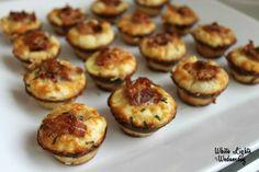 Bacon Parmesan Mini Muffins