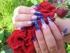 Ulyana Nails Hochzeit  nagel Blau