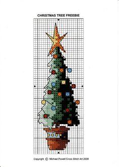 Freebie by Michael Powell Cross stitch art. Cross Stitch Christmas Ornaments, Xmas Cross Stitch, Cross Stitch Bookmarks, Cross Stitch Needles, Christmas Cross, Counted Cross Stitch Patterns, Cross Stitch Charts, Cross Stitch Designs, Cross Stitching