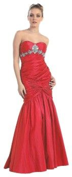 Junior prom party strapless beaded mermaid prom dresses 2013 - 2014