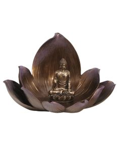 Buddha and lotus statue and incense holder! Available at BuddhaGroove.com.