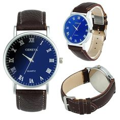 Amazing Blue And Black Men's Watch. Affordable Stylish Watch only $40.00 Summer Sale 50% OFF