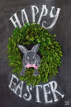 Easter chalkboard idea and free printable. Add some dimension to your chalkboards using this Easter chalkboard art idea. Use black card stock to draw your design on. Chalk It Up, Chalk Art, Hoppy Easter, Easter Bunny, Diy Ostern, Easter Holidays, Chalkboard Art, Easter Crafts, Easter Ideas
