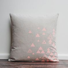 triangles Cushion Cover by agnesandyou on Etsy