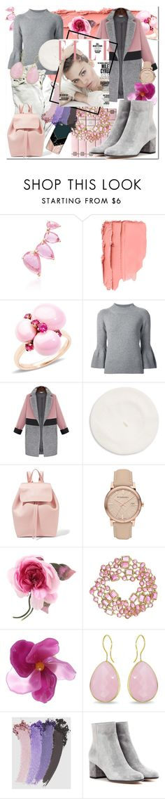 """Pink Harmony"" by beograd-love ❤ liked on Polyvore featuring Jacquie Aiche, Pomellato, Carolina Herrera, Parkhurst, Mansur Gavriel, Burberry, Gucci, Chanel, French Connection and Ice"