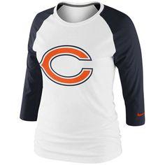 Women's Chicago Bears Matt Forte Majestic Navy Blue Fair Catch V Name & Number T-Shirt
