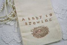 A Baby is Brewing Favor Bags Pink Bird Nest Eggs Tea Party Favor Bags