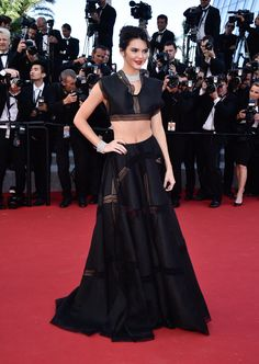 Kendall Jenner In Alaïa with Chopard jewelry at Cannes 2015   - ELLE.com