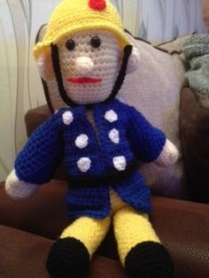 No 91 Fireman Sam Toy Crochet Pattern