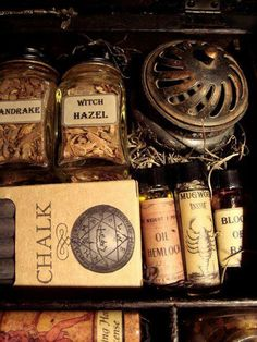 Makings for a traveling witch box...