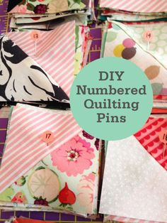 Fabric Depot || Numbered Quilting Pins Number your blocks to make quilting simple! Never get your blocks, rows, or columns out of order.