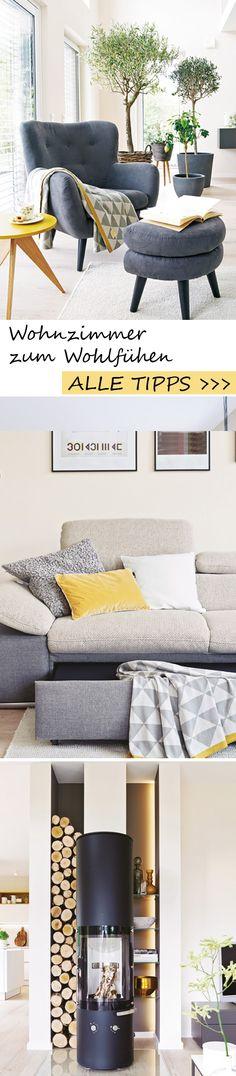 Endlich zu Hause! Große Fenster, ein offener Grundriss und moderne Möbel zaubern im Wohnzimmer Wohlfühl-Atmosphäre. ALLE IDEEN >>>