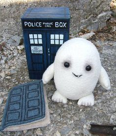 wooden TARDIS, felt TARDIS needlebook, cute baby adipose @Elizabeth Nigro MAKE ME THIS ADIPOSE