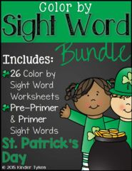 St. Patrick's Day Giveaway!! Enter for your chance to win 1 of 3. St. Patrick's Day Color By Sight Word Bundle  (29 pages) from KinderTykes on TeachersNotebook.com (Ends on on 03-04-2017) I am giving away one of my most popular products, my color by sight words bundle, to 3 lucky winners!  These bundles are a favorite among my students.  Hope you enjoy! :)  .