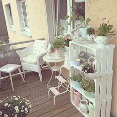 Balkonideen in weiß