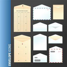 Vector Art Free Download – Envelope Icon Set
