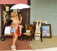 """ Pretty Woman"" Shops at junkerval.com! ""  Antiques, Vintage Junk, Clothing & Jewelry! 3458 Bluebonnet Circle Fort Worth 76109 OPEN Fridays Saturdays 10-7 Sundays 1-5"