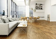 Płytki jak drewno. Nowoczesne podłogi do salonu  - zdjęcie numer 1