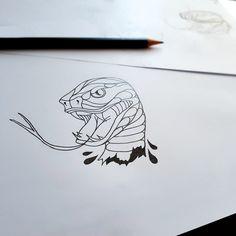First sketch  #snake #tattoo #flash #sketch