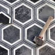 Image result for geometric black and grey tile LOVE