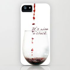 Wine iPhone Case by ZoiShop - $35.00