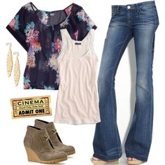 I found a top like this at Pac Sun once and passed it up! Love this outfit.