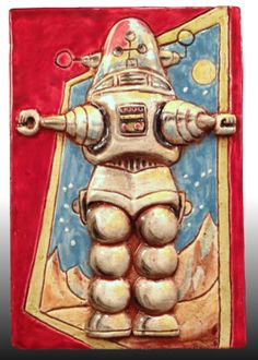 Robby the Robot ceramic art by Gregory Hicho