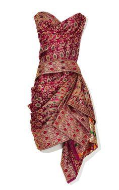 Marchesa -sari dress