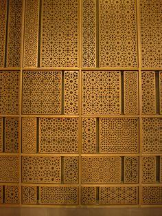 Like jali! Bronze laser cut screen