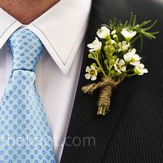 best service 502e0 9950f Rustic White Boutonniere -- The Twine White Wax Flower, Wax Flowers, White  Boutonniere