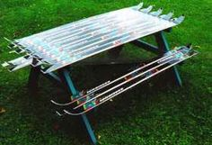 Table de pic nic recyclé #ski #snow #recyclé #recyclage #recycled #recycling…