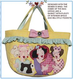The Lipgloss Girls Medium Bag has been designed to open as a basket when set down on a table.  This makes all the items in the bag easy to see and find.  With roomy pockets around the inside of...