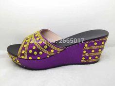 74c27413606f5 Tienda Online Nuevas Sandalias de Las Mujeres de Color Púrpura Vestidos  para Las Mujeres Africanas De La Boda Italiana Resbalón en Sandalias  Zapatos para ...
