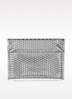 Maison Martin Margiela leather clutch looks like bubble wrap